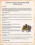 Issue: Azukail Games November 2020 Newsletter