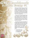 RPG Item: GM's Cookbook: Random Events #1