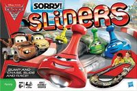 Board Game: Disney Pixar Cars 2 Sorry Sliders: World Grand Prix Race Edition
