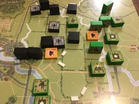 Scenario W3, busting through Bocage. (bits of foam mark hedgerows breached by tanks).