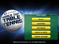 Video Game: World Cup Table Tennis