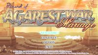Video Game: Record of Agarest War Mariage