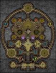 RPG Item: VTT Map Set 195: Vault of the Elements