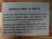 Board Game: Emmacubes Sumfun