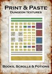 RPG Item: Print & Paste Dungeon Textures: Books, Scrolls & Potions