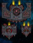 RPG Item: VTT Map Set 298: Starship Deckplan: Martian Red Wings