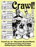 Issue: Crawl! (Issue 10 Character Record Sheets)