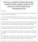 Issue: Roleplaying Tips (Issue 623)