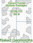 RPG Item: Naked Geomorphs: Cavern-Tunnel Multiple Passages Set B
