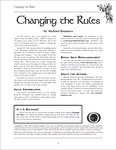 RPG Item: Changing the Rules