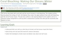 RPG Item: Coral Bleaching: Making Our Oceans Whiter