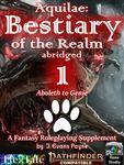 RPG Item: Aquilae: Bestiary of the Realm Abridged 1 (PF2)