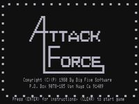 Video Game: Attack Force