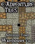 RPG Item: e-Adventure Tiles: Adventure Town Warehouses Vol. 1