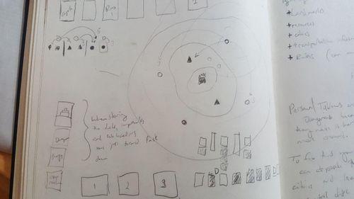 Part of Cole's designer sketchbook