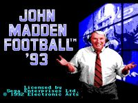 Video Game: John Madden Football '93