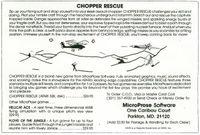 Video Game: Chopper Rescue