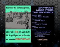 RPG Item: Captain's Logs from the Sandbox 04: Robot Revolt