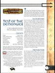 RPG Item: Test of the Demonweb