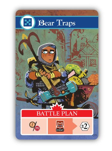 Card from Oath the Board Game: Bear Traps; art by Kyle Ferrin