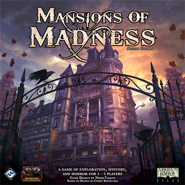 Mansions of Madness: Second Edition, Fantasy Flight Games, 2016 — front cover (image provided by the publisher)