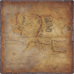 Board Game Accessory: The Lord of the Rings: Journeys in Middle-earth – Gamemat