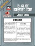 RPG Item: Modern: 13 Arcane Operative Items