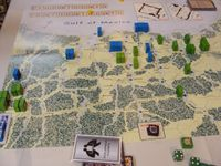 2012 Prezcon final, T8. Mexicans have consolidated their position on the two VP cities in the east, to defend against likely US intervention. The action has shifted to central Texas, were the rebels are attempting to hold Harrisburg.