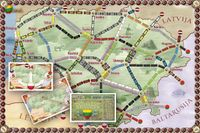 Board Game: Lietuva (fan expansion for Ticket to Ride)
