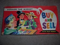Board Game: Corner the Market: Buy and Sell – With Play Money