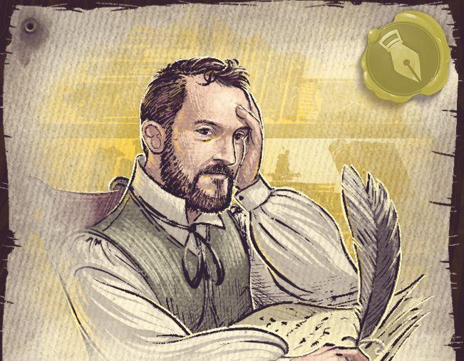 Easter Egg - Nestore Mangone (co-designer) on a Crew card