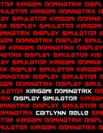 RPG Item: Kirigami Dominatrix Display Simulator (2nd Edition)