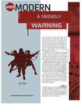 RPG Item: A Friendly Warning
