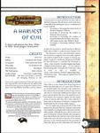 RPG Item: A Harvest of Evil