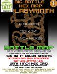RPG Item: Big Battle Hex Map: Labyrinth 1
