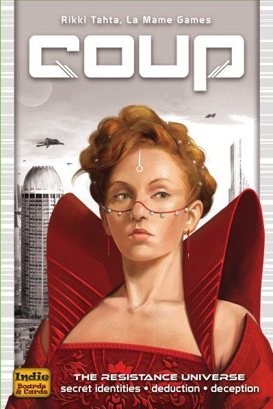 Coup The Dystopian Universe,English Version of Board Games,Role-Playing wear-Resistant Cards,Resisting Tissue Type Card Games.