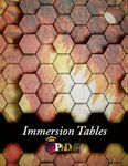 RPG Item: Immersion Tables