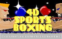 Video Game: 4-D Boxing