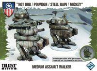 "Board Game: Dust Tactics: Medium Assault Walker – ""Hot Dog / Pounder / Steel Rain / Mickey"""