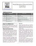 RPG Item: Prose Descriptive Qualities (PDQ) System Core Rules