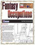 RPG Item: Fantasy Occupations
