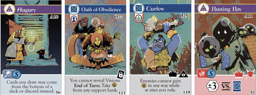Abandoned card templating designs