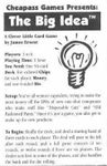 Board Game: The Big Idea