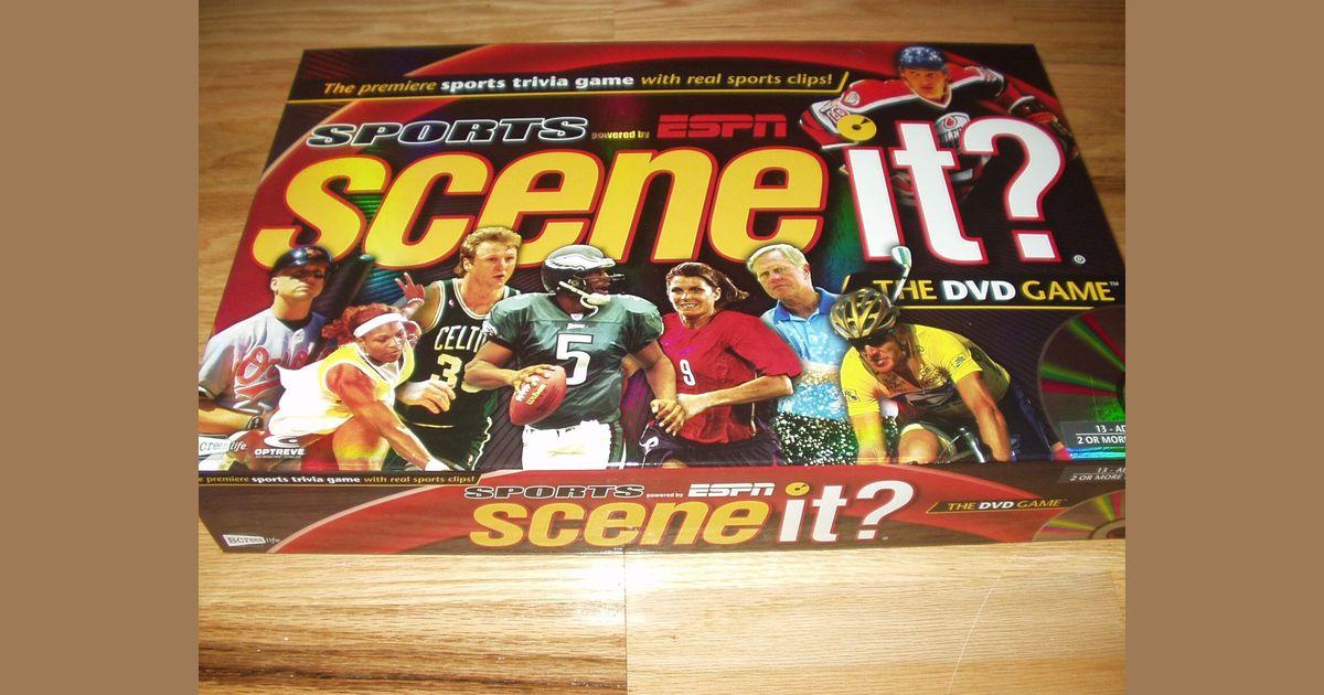 Scene It Sports Powered By Espn Board Game Boardgamegeek