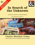 RPG Item: Classic Modules Today B1: In Search of the Unknown
