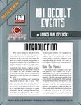 RPG Item: Modern: 101 Occult Events