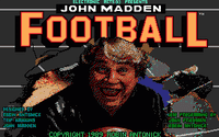 Video Game: John Madden Football (1988)