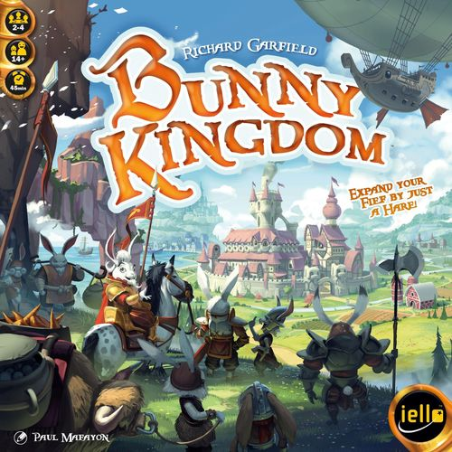 Bunny Kingdom, IELLO, 2017 — front cover (image provided by the publisher)