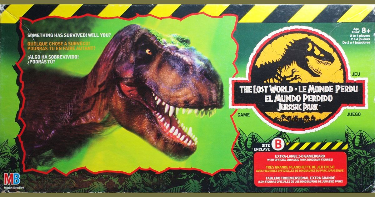 The Lost World Jurassic Park Game Board Game Boardgamegeek
