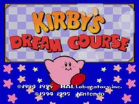 Video Game: Kirby's Dream Course